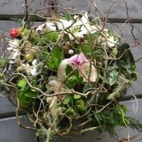 bouquet su struttura naturale e ramificato