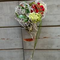 bouquet moderno a cuore