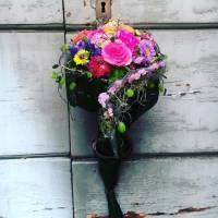 bouquet a cuore fiorista bianchi