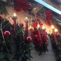candelabri natalizi per allestimento natalizio