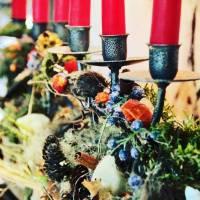 ferro battuto decorazione per tavola natalizia