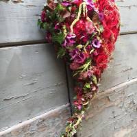 bouquet strutturato a cuore amore