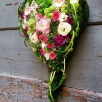bouquet strutturato a cuore