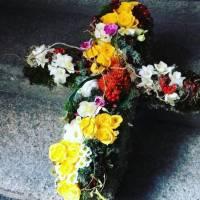 croce funebre fiorista bianchi