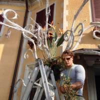 palma floreale, entrata villa