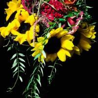 bouquet decorativo strutturato tecnica ferro
