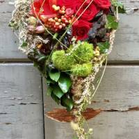 bouquet a cuore decorativo